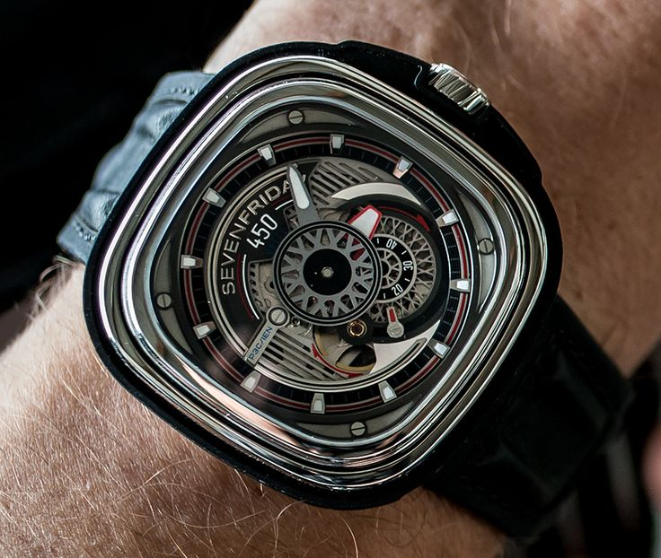 Sevenfriday P3C/01 Hot Rod Hotrod Limited Edition Automatic Watch With Extra Rubber Strap