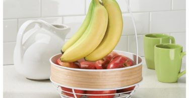 RealWood Kitchen Fruit Tree Bowl with Banana Hanger