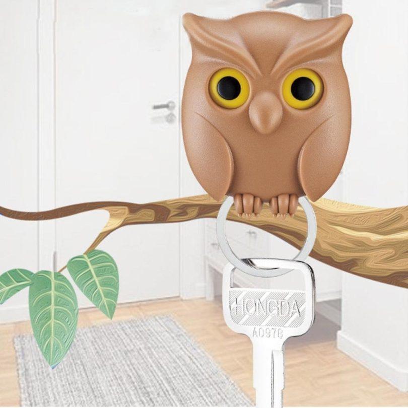 Cute Night Owl Magnetic Wall Key Holder 187 Petagadget