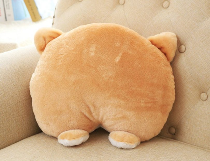 CN'Dragon Corgi Cute Butt Throw Pillow