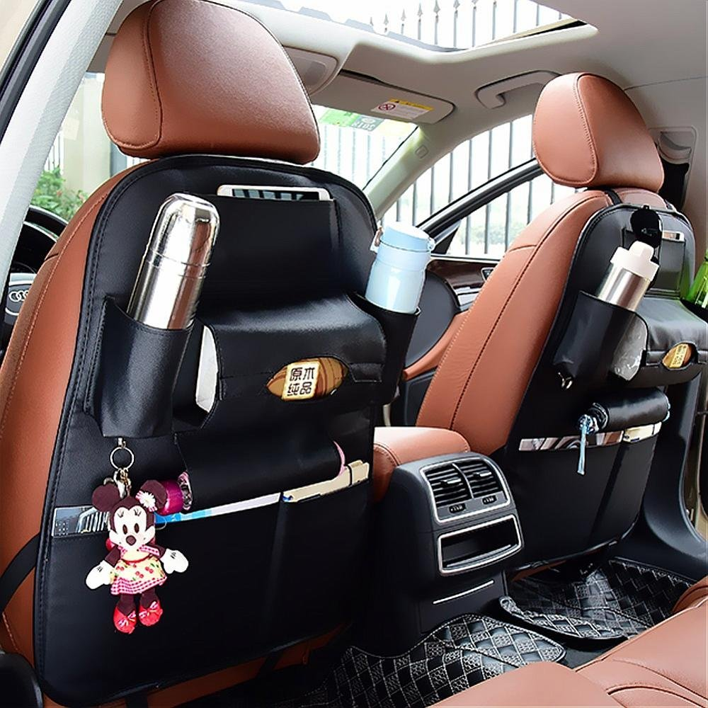 Car Back Seat Leather Storage Bag