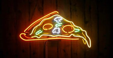 Pizza Desktop Neon Sign
