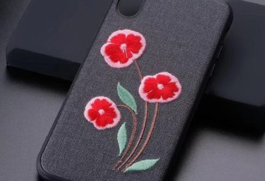 Daisy Embroidered iPhone X Case