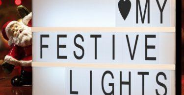DIY Letters Light Box Night Lamp