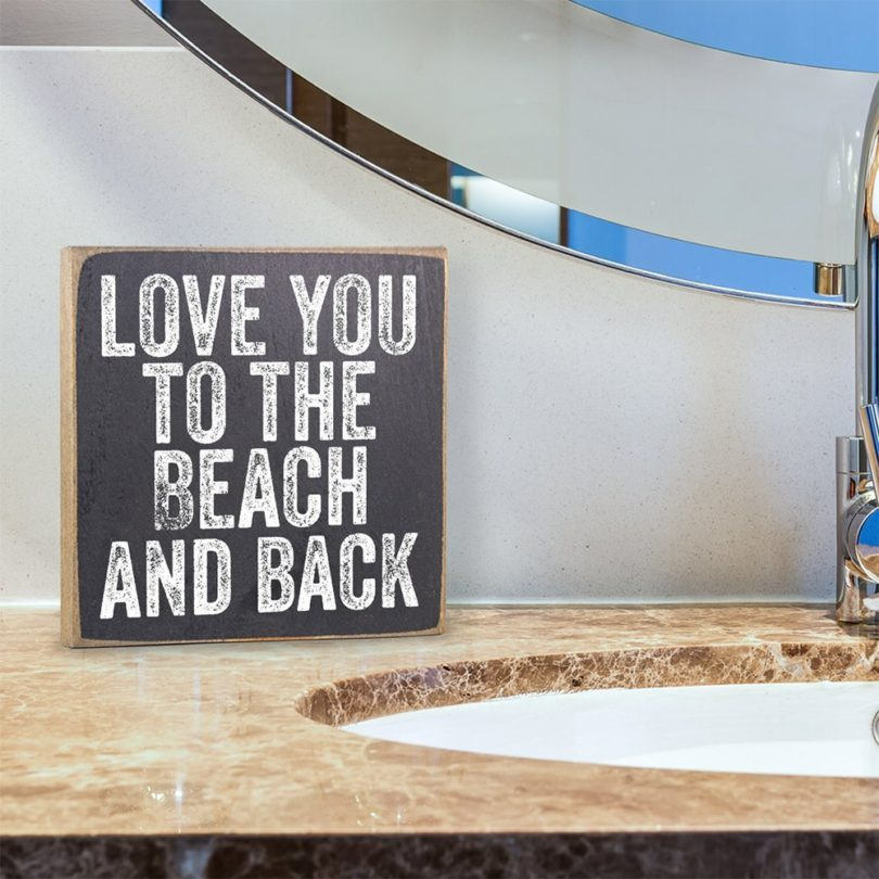 Love You to the Beach Wooden Sign