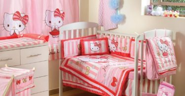 Hello Kitty Striped Crib Bedding Accessory