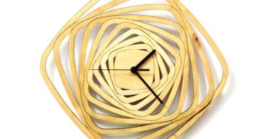 Whirl Wooden Wall Clock