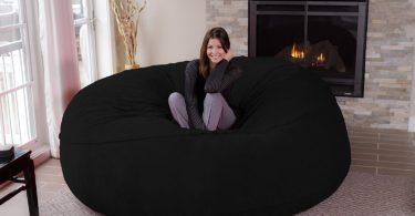 Chill Sack Bean Bag Chair: Giant 8′ Memory Foam Furniture Bean Bag