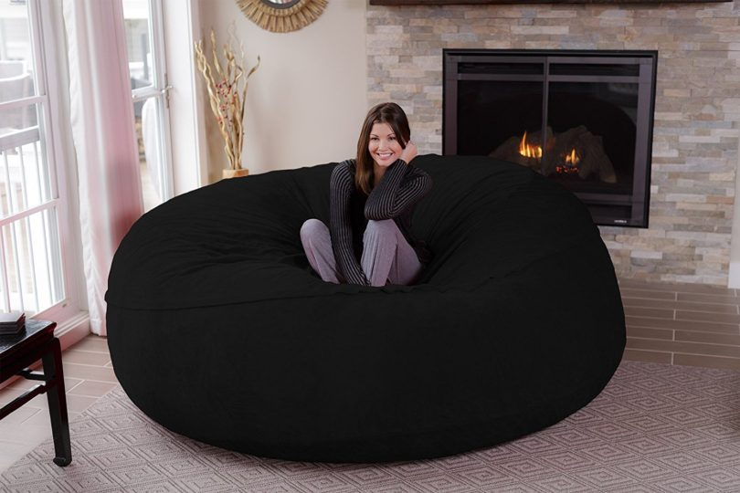 Chill Sack Bean Bag Chair: Giant 8u2032 Memory Foam Furniture Bean Bag