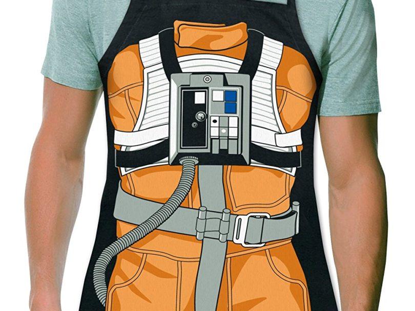 Luke Skywalker X-Wing Pilot Be The Character Adult Size 100% Cotton Adjustable Black Apron