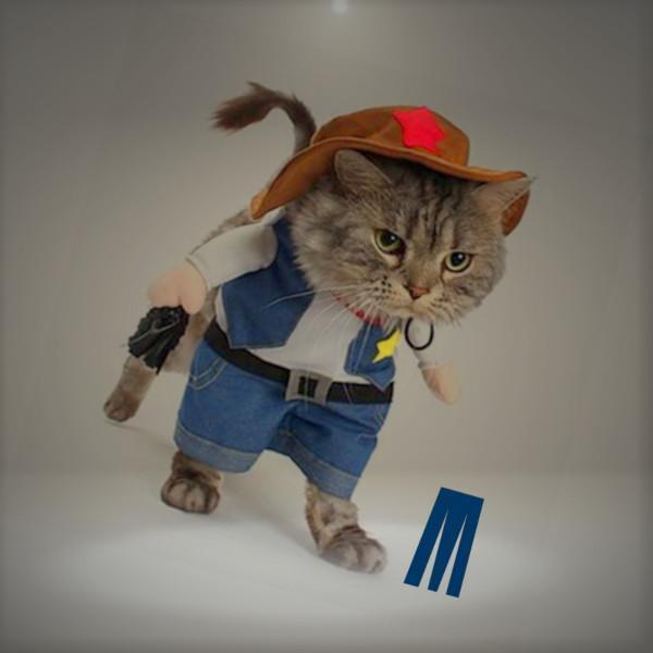 Mikayoo Pet Dog Cat Cowboy Costumes