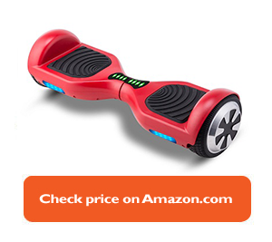 red hoverboard with black pads
