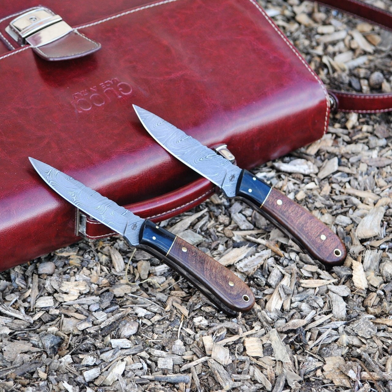 BucknBear Handmade Spear Hunting Knife