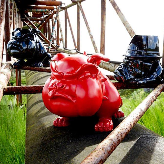 Winston The Red Devil Bulldog