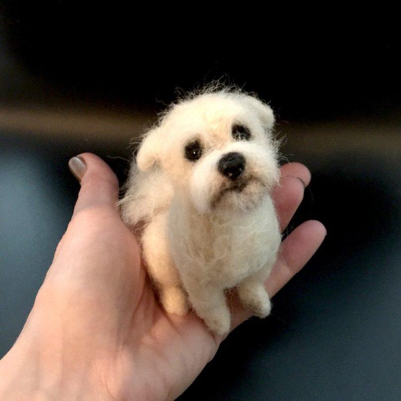 Custom Mini Needle Felted Dog
