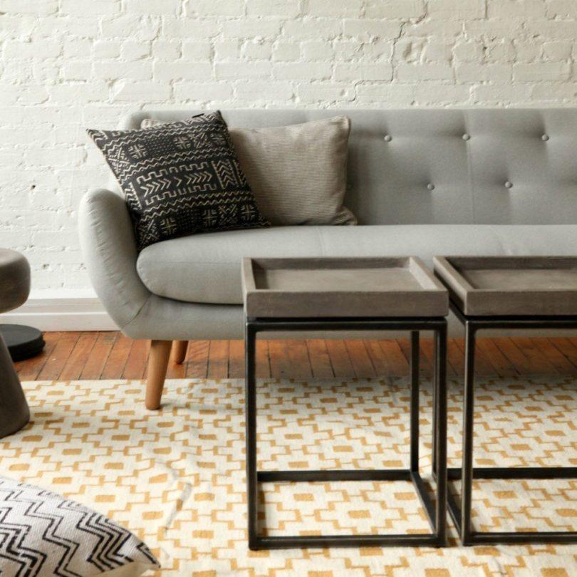 Vega Concrete Tray Table