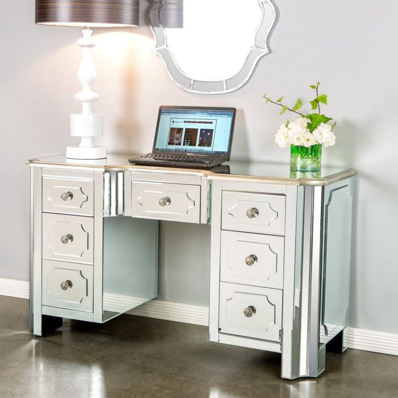Hudson Mirrored Vanity Table / Desk