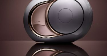 Gold Phantom Wireless Speaker by Devialet