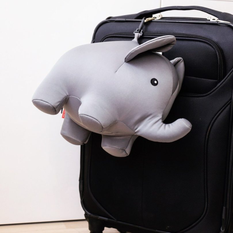 Zip And Flip Elephant Travel Pillow