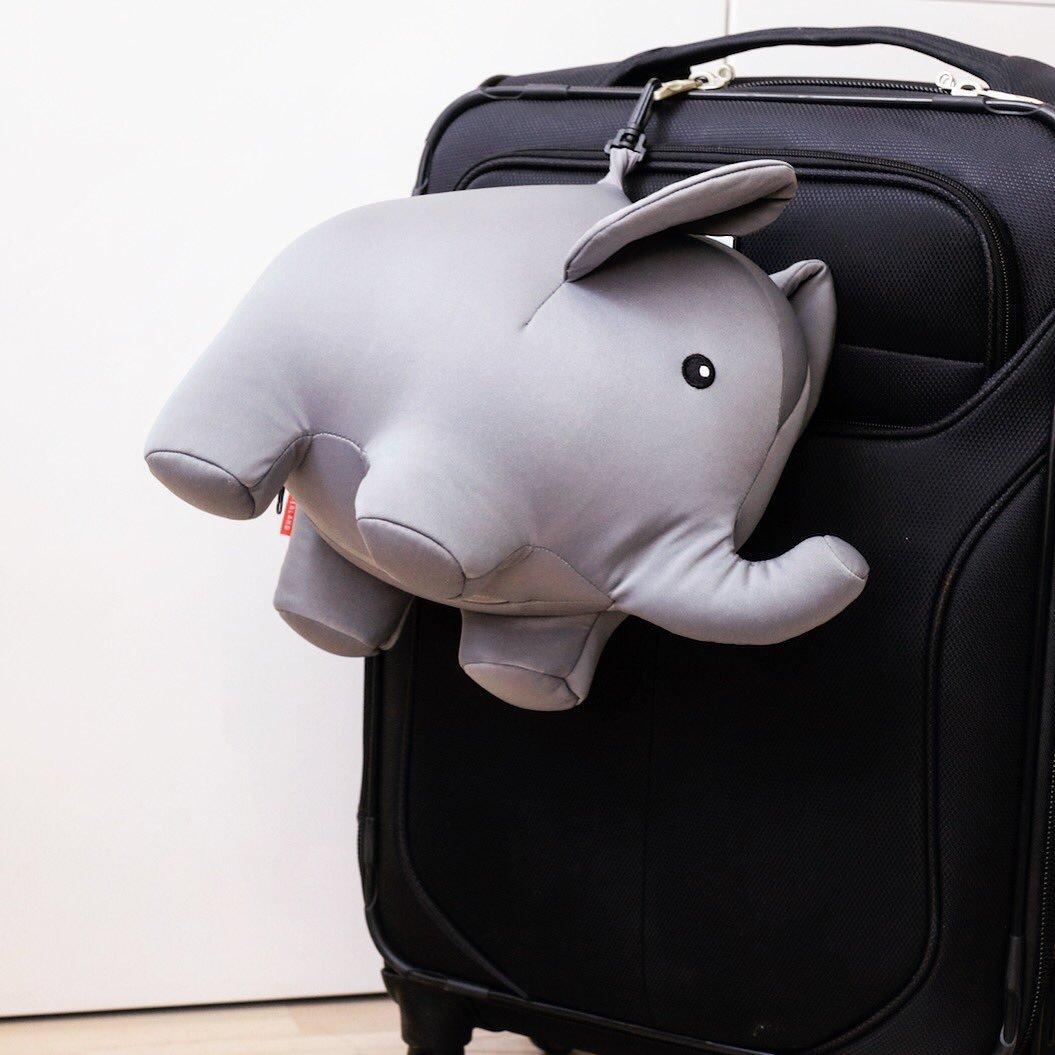 Zip And Flip Elephant Travel Pillow