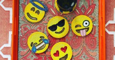 Emoji Coaster Set by Kim Seybert
