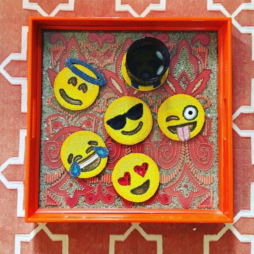 Emoji Coaster Set by Kim Seybert