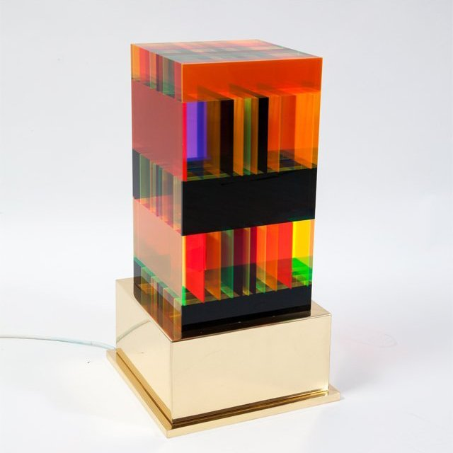 Plexiglas Table Lamp DNA by Studio Superego