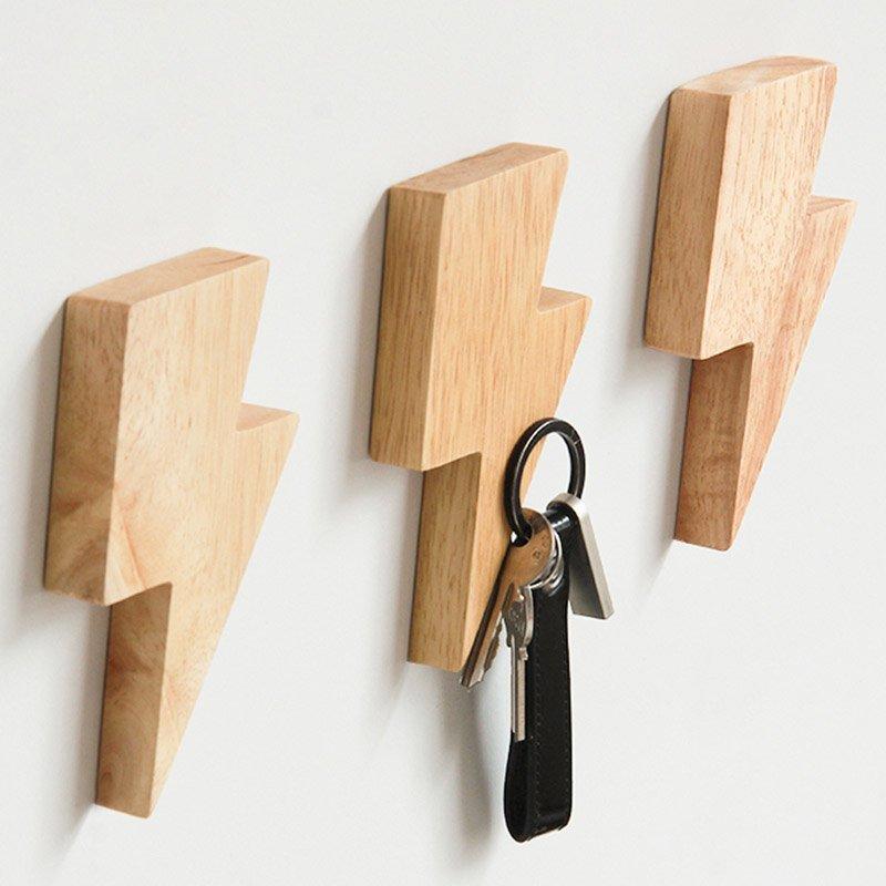 Lighting-shaped Magnetic Key Holder