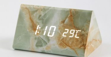 Retro Marble Table Clock