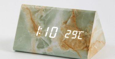 Retro Marble Table Clock