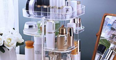 Acrylic 360° Rotating Cosmetic Organizer