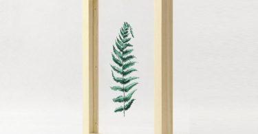 Floating Leaf 03 Print with Oak Frame
