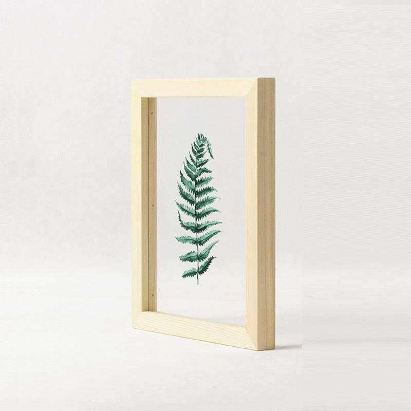 Floating Leaf 03 Print with Oak Frame