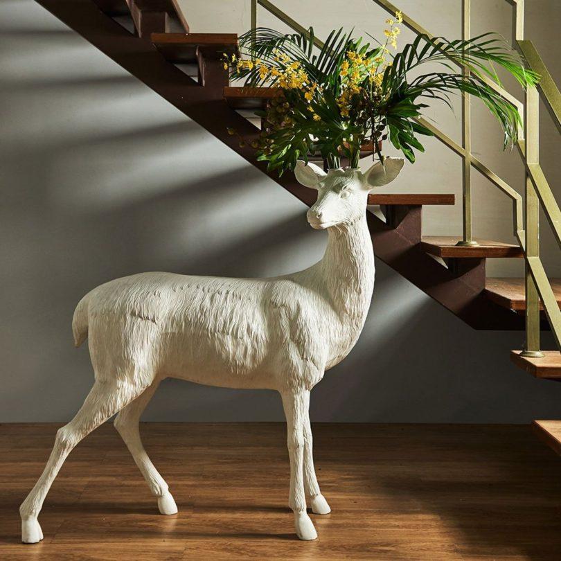 Deer X Vase