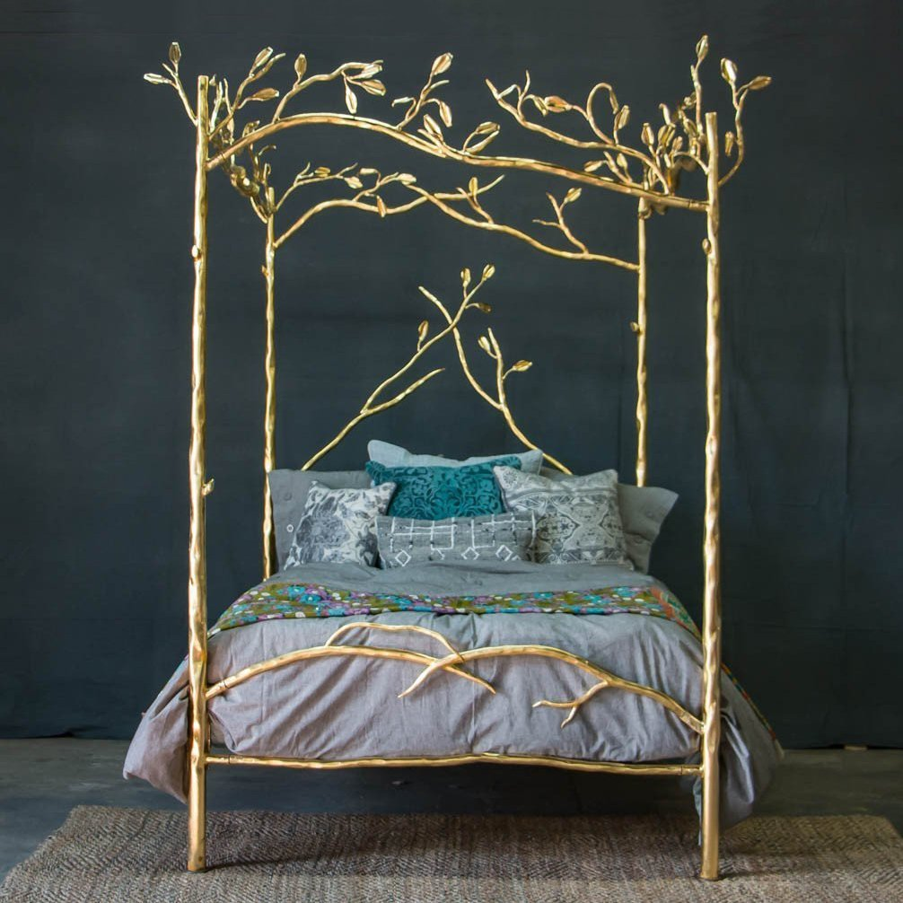 24K Gold Forest Canopy Bed » Petagadget