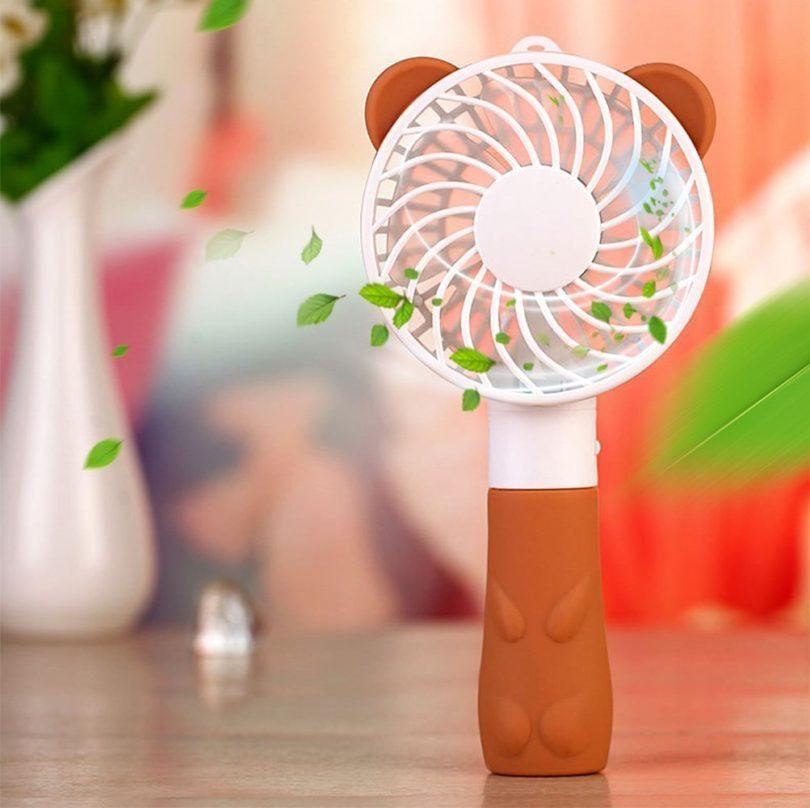 Security Cute Bear Fan