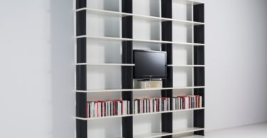 NIKKA Modern white modular bookcase