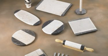Two Color Tone Marble Cheese Boards