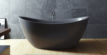 Black Purescape Soaking Bathtub