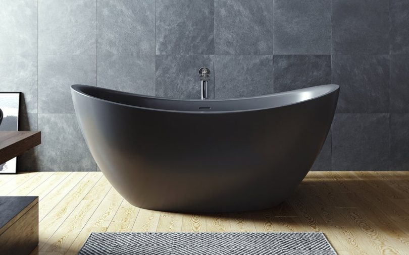 Black Purescape Soaking Bathtub