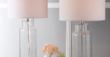 Safavieh Lighting Collection Bottle Glass Clear 29-inch Table Lamp