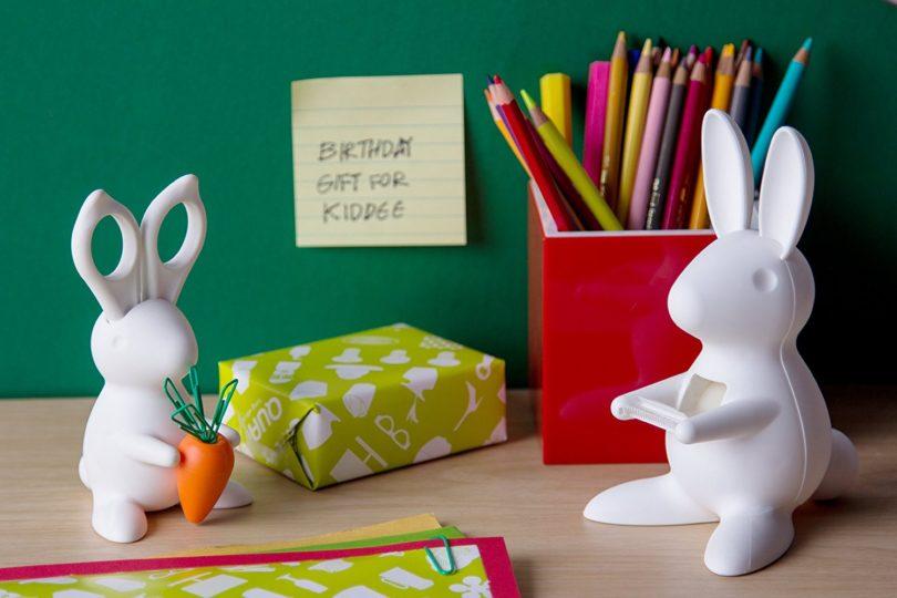 Bunny Desk Organiser – Scissors and Paper Clips Holder