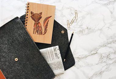 Fox Laser Cut Wood Journal