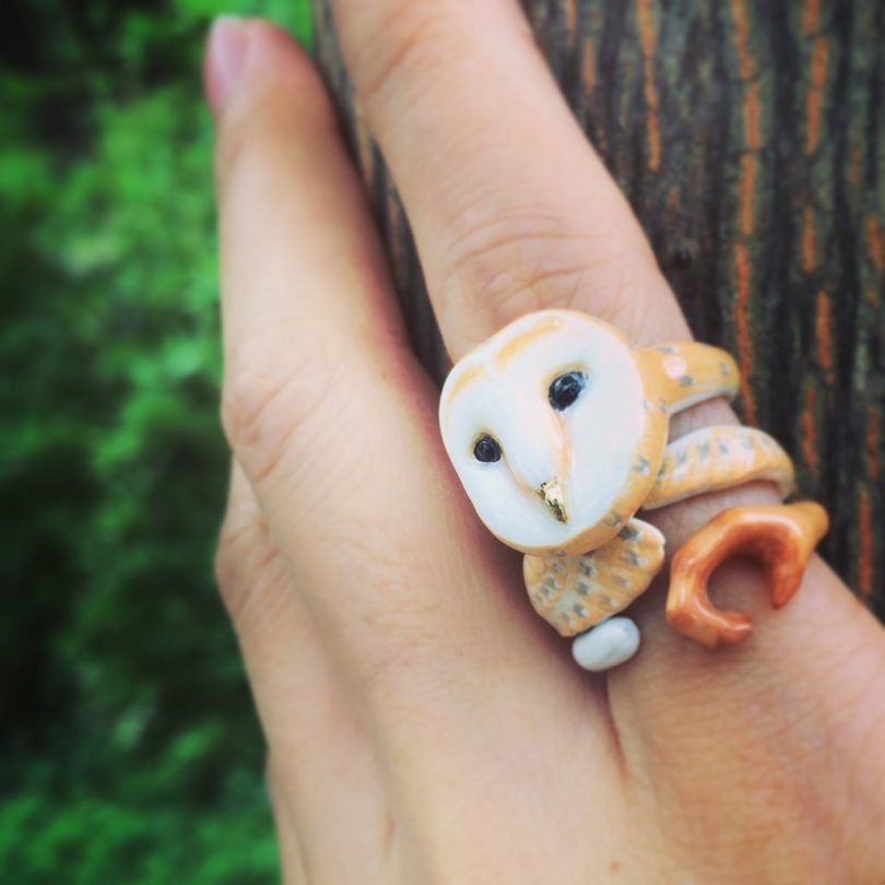 Mary Lou Owl Trio Ring