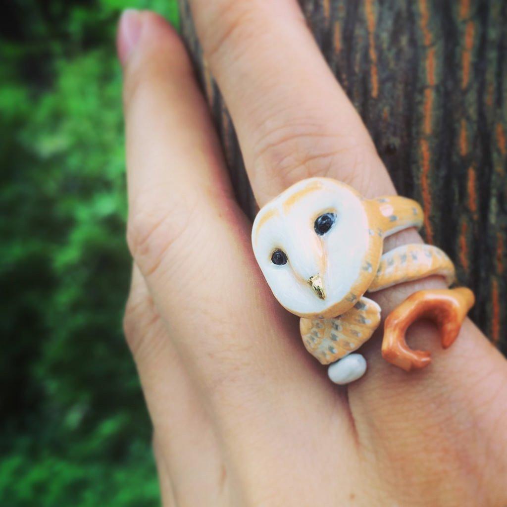 Mary Lou Owl Trio Ring