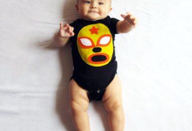 Baby Onesie – Luchador Amarillo