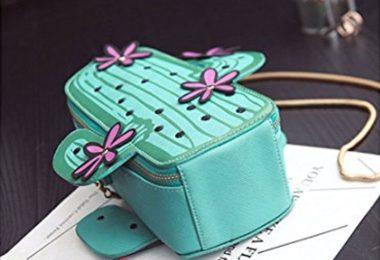 MILATA Women Cactus Shape PU Leather Mini Cross Body Bag