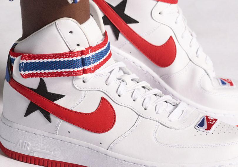 NikeLab White Riccardo Tisci Edition Air Force 1 High Sneakers