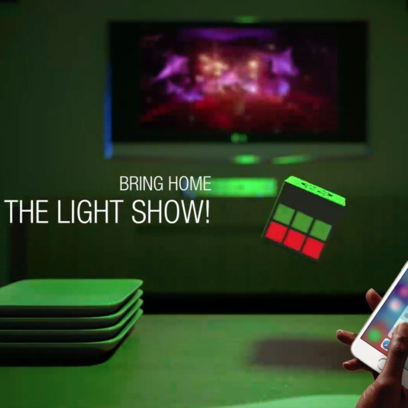 MOBI Cube Light Show Bluetooth Speaker