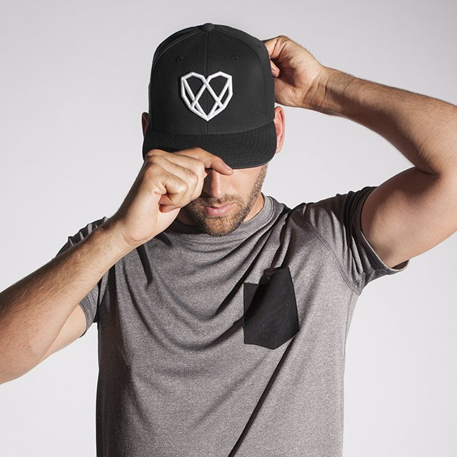 Strongbody Carbon Black Snapback Hat
